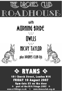 The Drones Club Roadhouse flyer