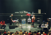 Throbbing Gristle not playing a live gig (Click for larger image. Pic: Simon Leigh, www.simonleigh.com)